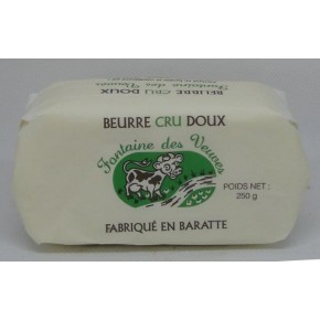 Beurre  cru doux